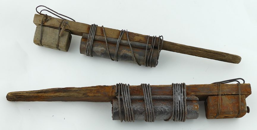 The Extremely Rare French Ww1 Hairbrush Stick Grenades Parker